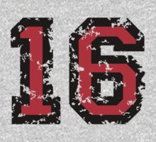Number Sixteen - No. 16 (two-color) red by theshirtshops