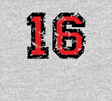 Number Sixteen - No. 16 (two-color) red Unisex T-Shirt