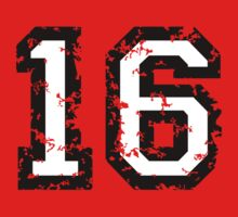 Number Sixteen - No. 16 (two-color) white by theshirtshops