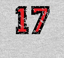 Number Seventeen - No. 17 (two-color) red Unisex T-Shirt