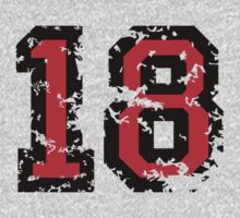 Number Eighteen - No. 18 (two-color) red by theshirtshops