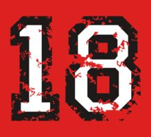 Number Eighteen - No. 18 (two-color) white by theshirtshops