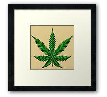 Weed Leaf Framed Print