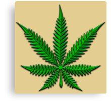Weed Leaf Canvas Print