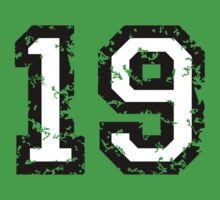 Number Nineteen - No. 19 (two-color) white Baby Tee
