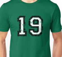 Number Nineteen - No. 19 (two-color) white Unisex T-Shirt