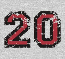 Number Twenty - No. 20 (two-color) red by theshirtshops