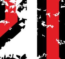 Number Twenty - No. 20 (two-color) red Sticker