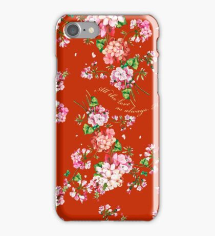 All the love. Red. iPhone Case/Skin