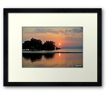 Sunset near Ban Tha Lane -Thailand  Framed Print