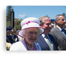 Queen Elizabeth in Perth Canvas Print