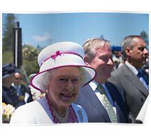 Queen Elizabeth in Perth Poster