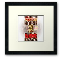 evil animals: the pig with a chainsaw Framed Print