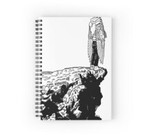 Standing on the cliff face Spiral Notebook