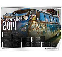 2014 VW festival Photo Calendar. The Denim vw splitscreen Poster