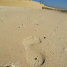 Footprint on Sand by Fangpunk