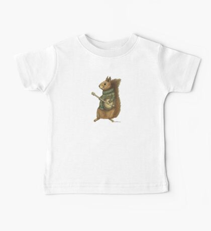 Squirrel with a banjo Baby Tee