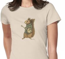 Squirrel with a banjo Womens Fitted T-Shirt