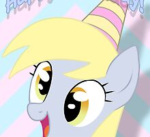Derpy Hooves Birthday Card - Postcard My Little Pony by FalakTheWolf