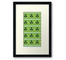 Irish Shamrocks Framed Print