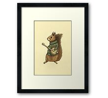 Squirrel with a banjo Framed Print
