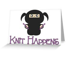 Knit Happens Greeting Card
