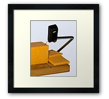 Sliced Cheese Framed Print