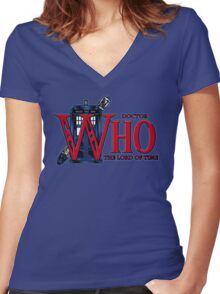 The Legend of Who - Shirt Design Women's Fitted V-Neck T-Shirt