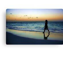 Sunset Stroll Canvas Print