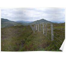 Highland Fence Poster