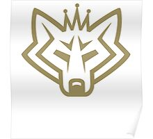 NSL Crown Gold Wolf Poster