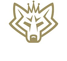 NSL Crown Gold Wolf Photographic Print