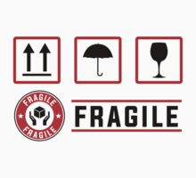 fragile signs and stamps Kids Tee