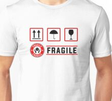 fragile signs and stamps Unisex T-Shirt
