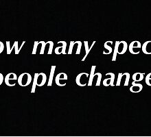 How many special people change - oasis by chris Morley