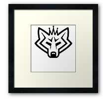 NSL Crown White Wolf Framed Print