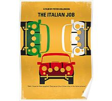 No279 My The Italian Job minimal movie poster Poster