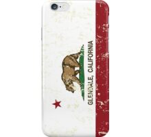 Glendale California Republic Flag Distressed  iPhone Case/Skin