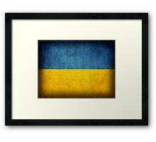 Ukraine Flag Framed Print