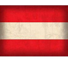 Austria Flag Photographic Print