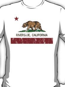 Riverside California Republic Distressed  T-Shirt