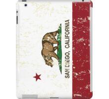 San Diego California Republic Distressed  iPad Case/Skin