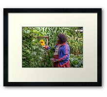In The Garden With A Friend Framed Print