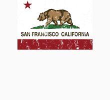 San Francisco California Republic Flag Distressed  Unisex T-Shirt