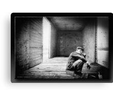 Riding The Lonesome Rail Canvas Print