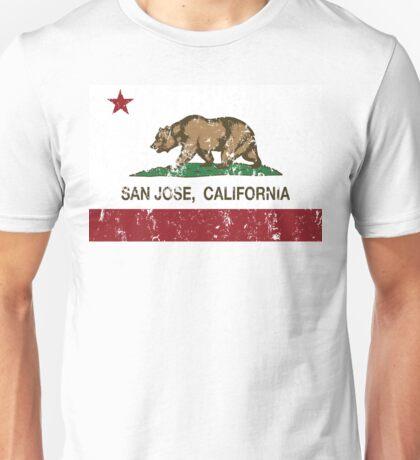 San Jose California Republic Flag Distressed  Unisex T-Shirt