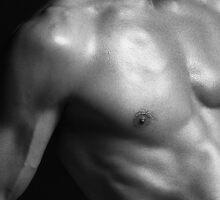 Closeup of fit man body parts art photo print by ArtNudePhotos