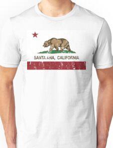 Santa Ana California Republic Flag Distressed Unisex T-Shirt