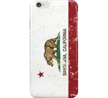 Santa Ana California Republic Flag Distressed iPhone Case/Skin