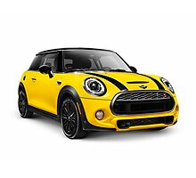 2014 Mini Cooper S hatchback car art photo print Photographic Print